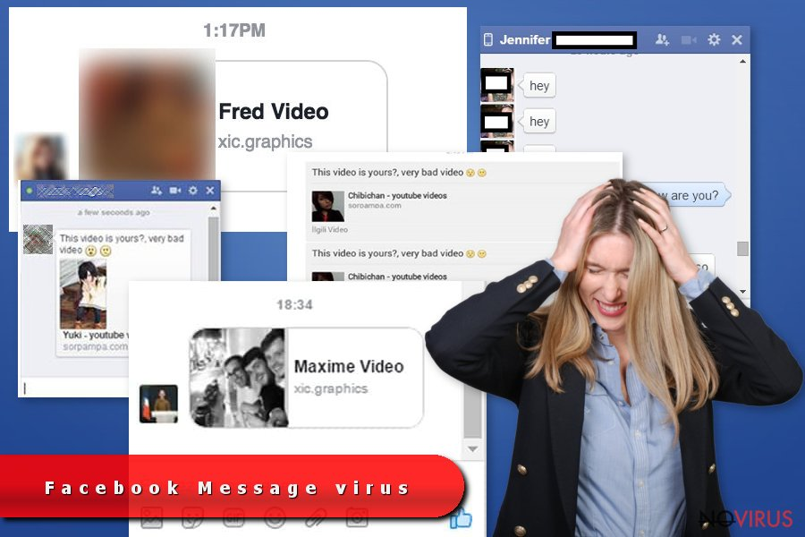 The screenshot of Facebook Messenger virus