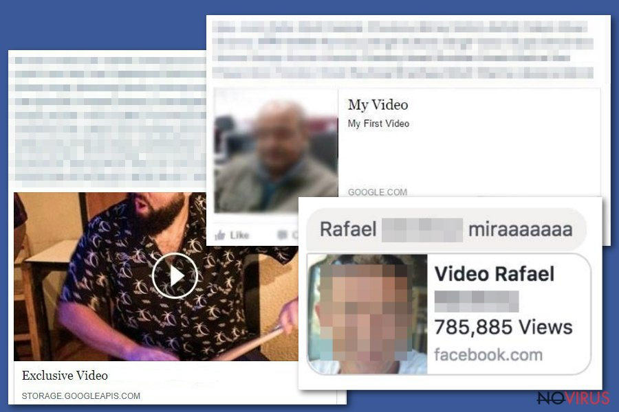 Facebook video virus screenshot