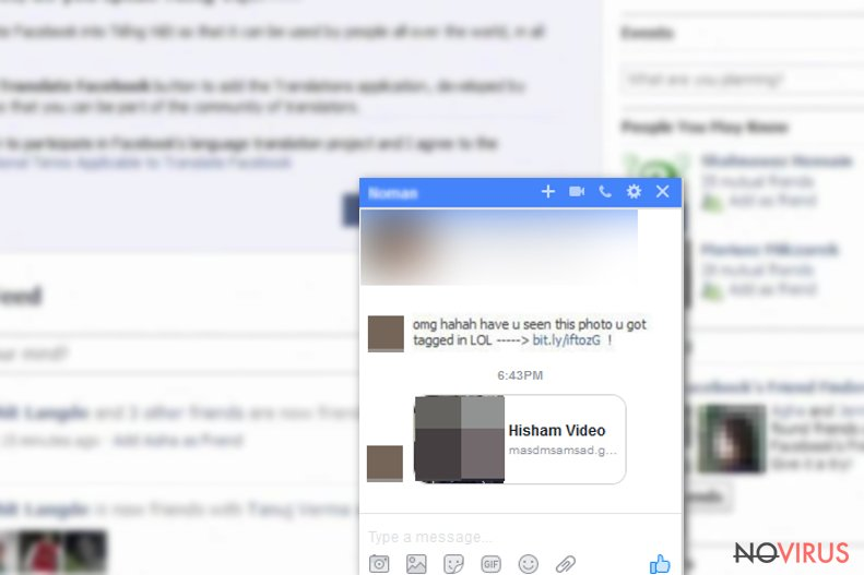 Fake video used by Facebook virus
