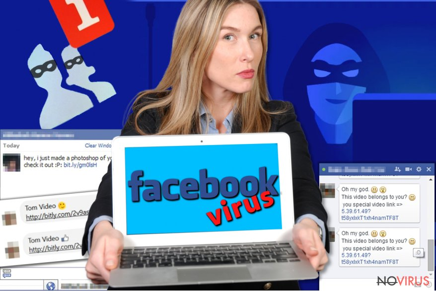 Facebook virus screenshot