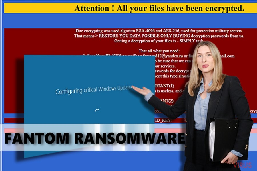 Fantom ransomware virus screenshot