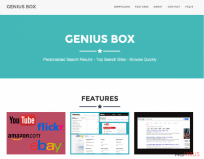 Genius Box website