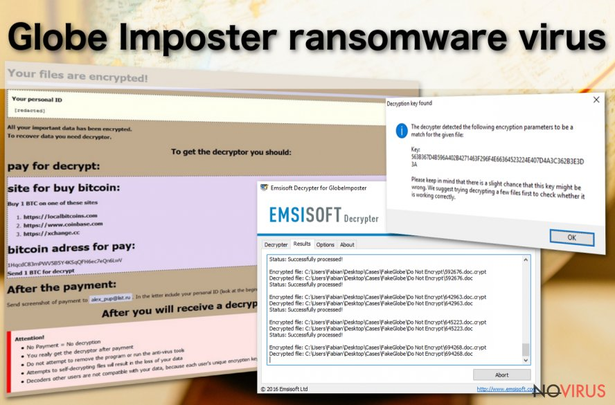 Globe Imposter ransomware releases new versions montly
