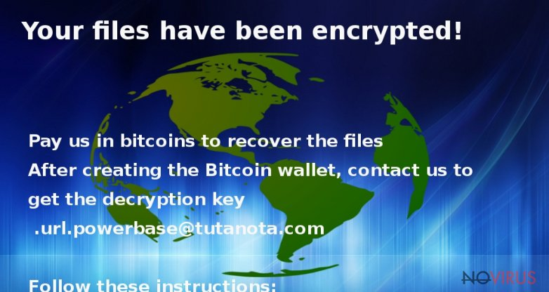 the picture showing Globe ransomware virus