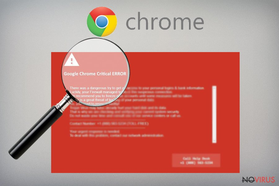 Google Chrome Critical Error virus