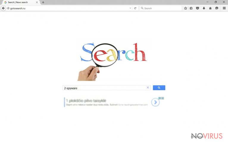 Screenshot of the Gotosearch.ru search engine