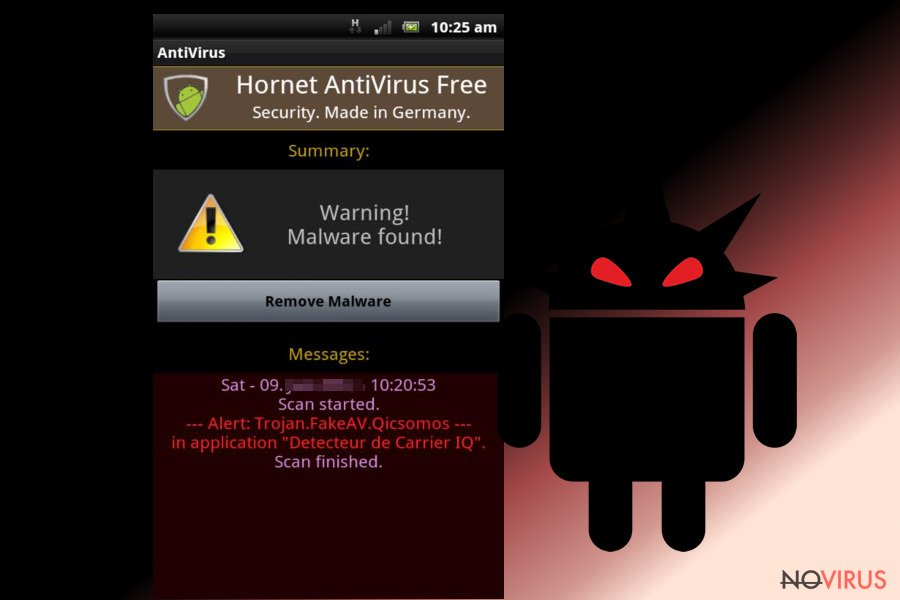 Android virus screenshot