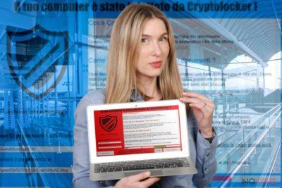 Il tuo computer e stato infettato da Cryptolocker! ransomware virus example