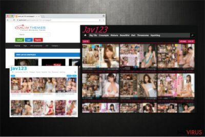 Examples of Jav123 redirects