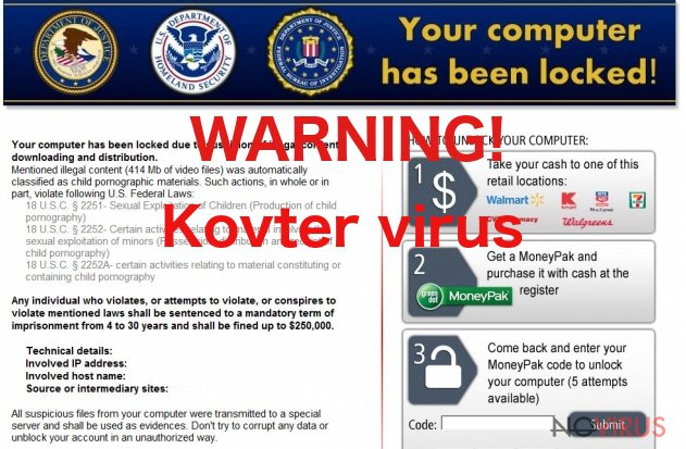 Kovter virus tries to swindle the money