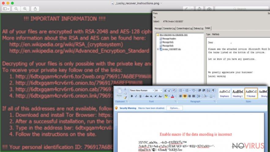Locky ransomware screenshot