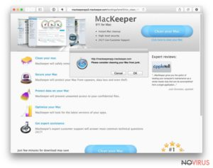 MacKeeper pop-up ads