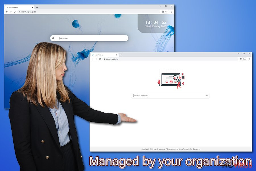 Managed by your organization notification