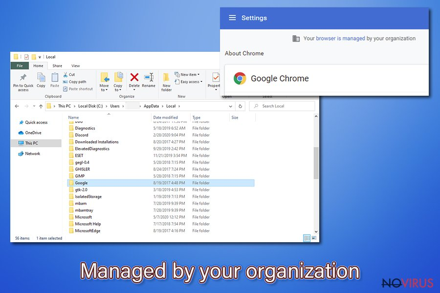 """Managed by your organization"" virus"