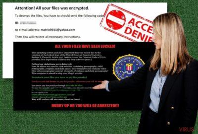 The image of Matrix ransomware virus