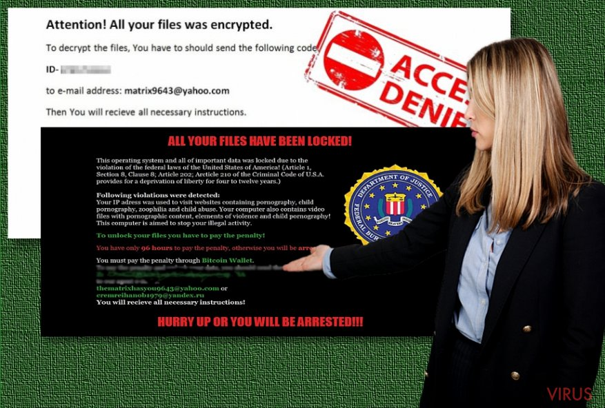 The image of Matrix ransomware virus