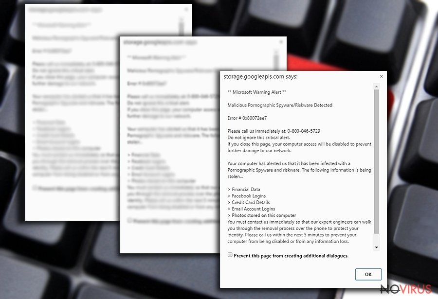 """Malicious Pornographic Spyware/Riskware Detected"" image"