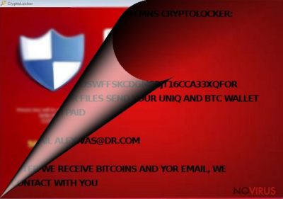 MNS Cryptolocker ransomware virus