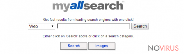 The example of MyAllSearch virus