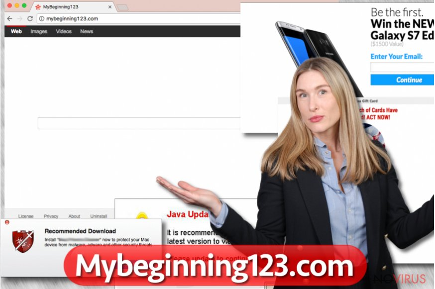 MyBeginning123.com virus