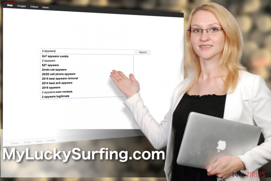 The image of MyLuckySurfing.com search engine