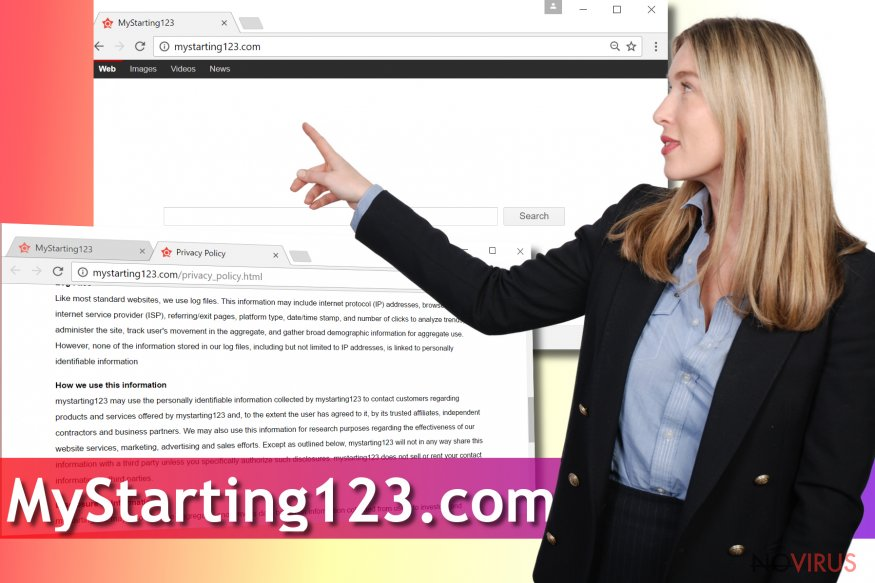 MyStarting123.com browser hijacker