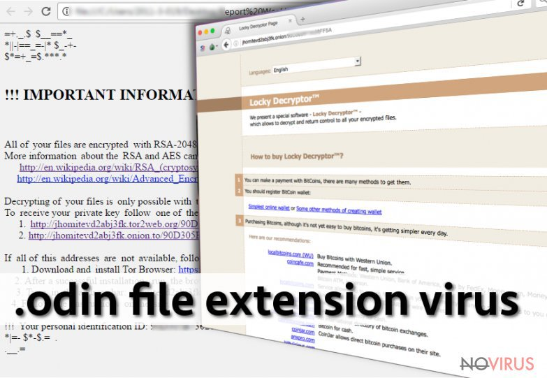 The picture of .odin file extension virus