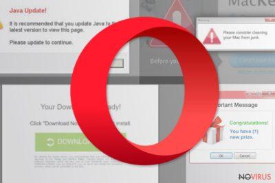 The image of Opera redirect malware