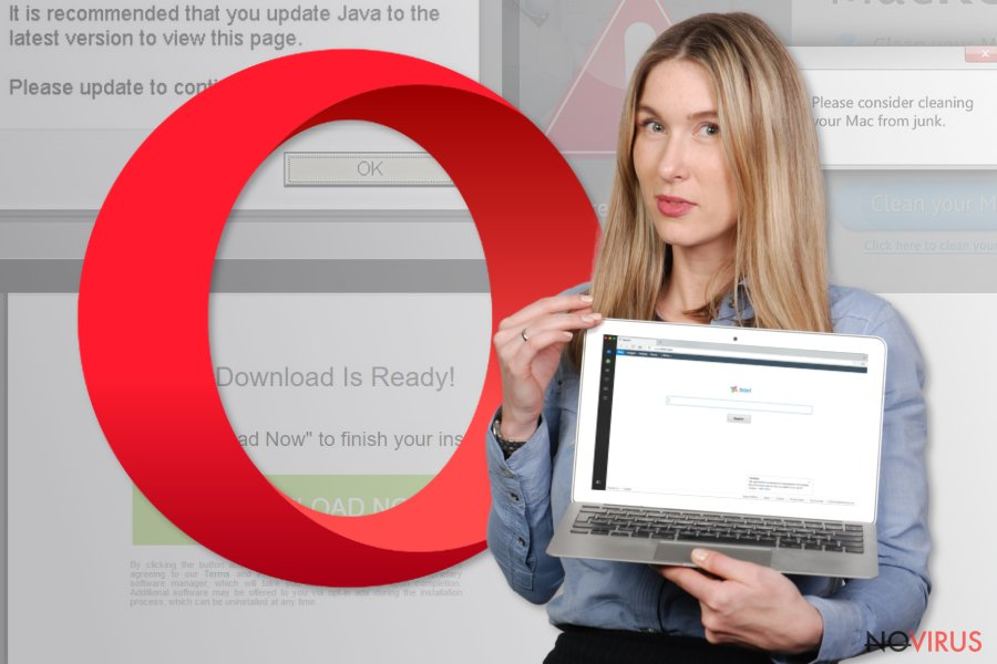 The picture illustrating Opera browser