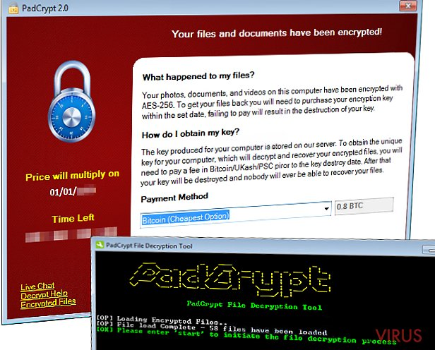 PadCrypt ransomware virus infects computers