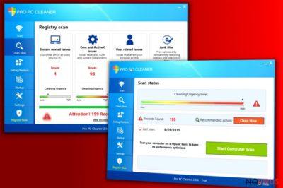 The screenshot of Pro PC Cleaner program