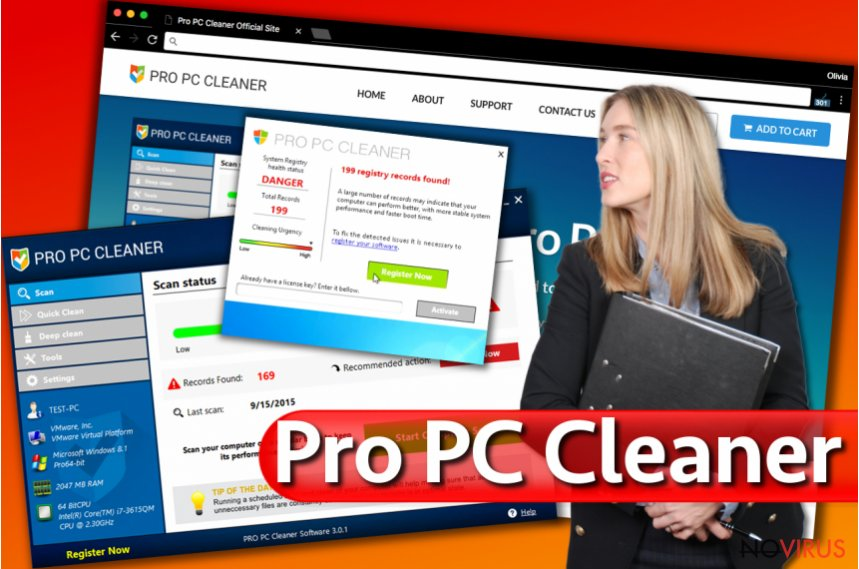 Pro PC Cleaner pop-up alerts