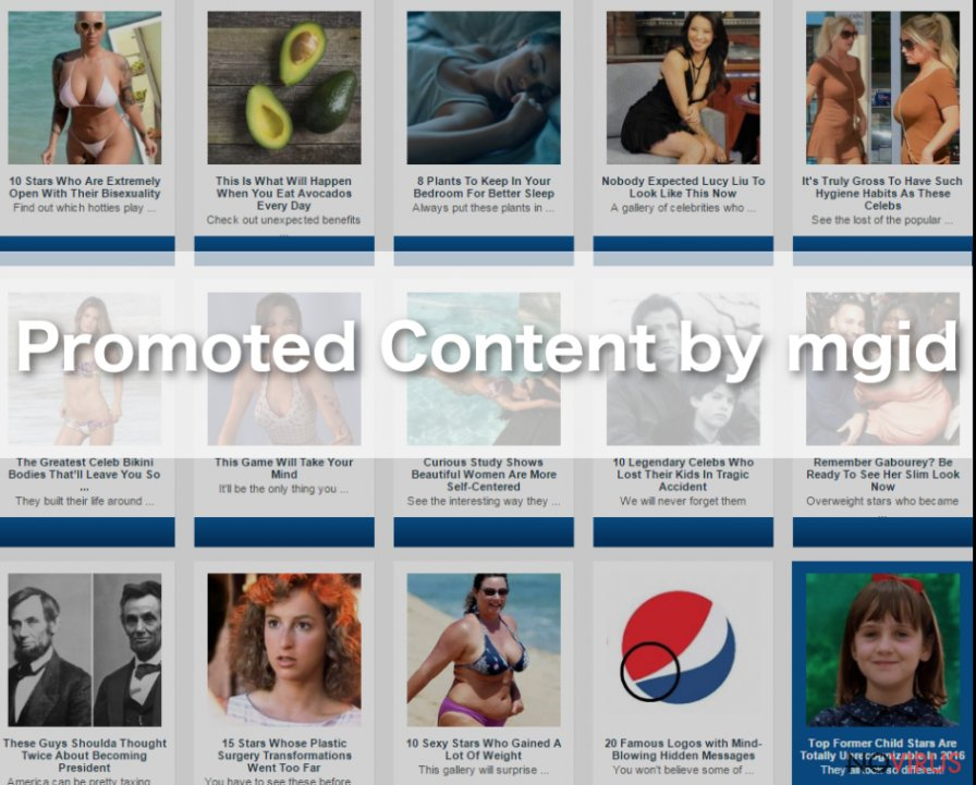 """Promoted Content by mgid"" pop-ups sample"
