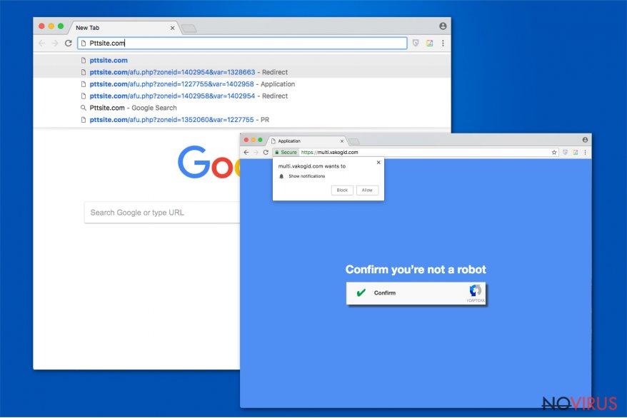 Pttsite.com virus image
