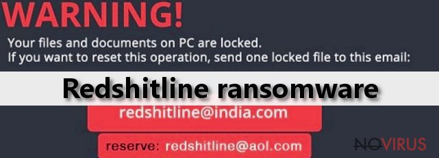 The example of Redshitline ransomware virus