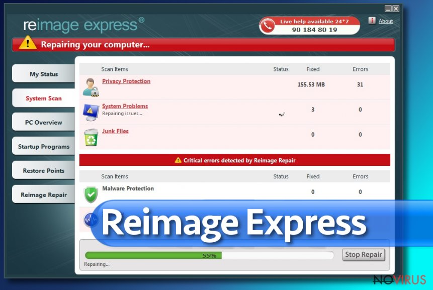 Reimage Express screenshot