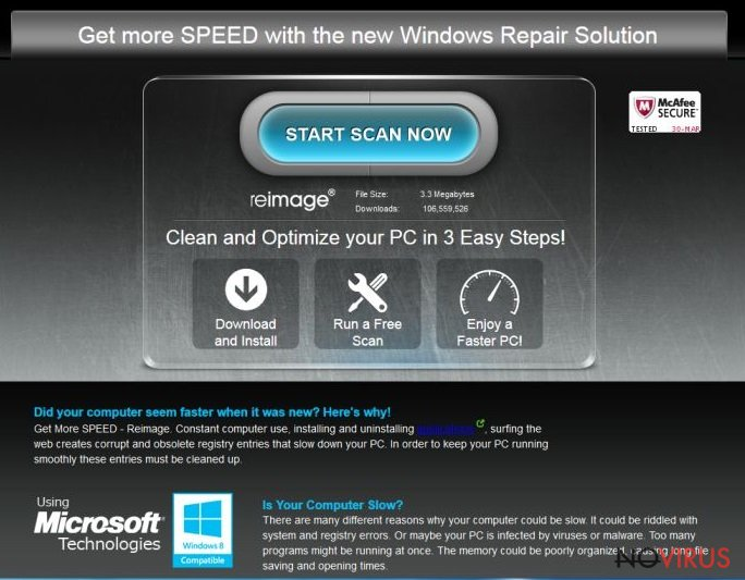 ReimagePlus.com ads screenshot