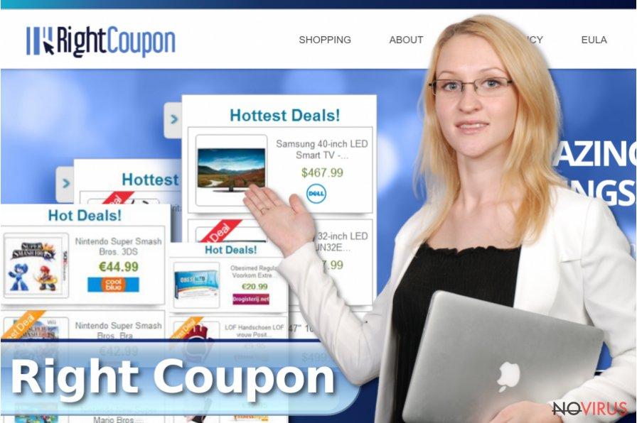 Right Coupon pop-up ads