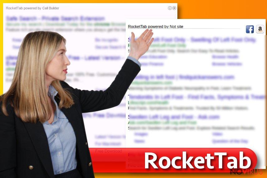 Rocket Tab virus screenshot