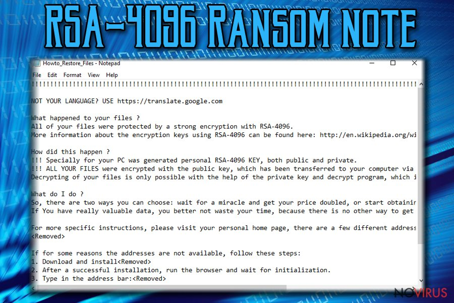 Remove RSA-4096 Ransomware (Uninstall Guide) - Aug 2019 updated