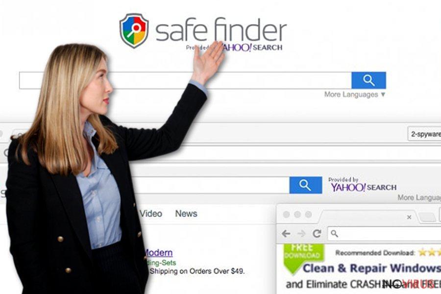 Safe Finder virus screenshot