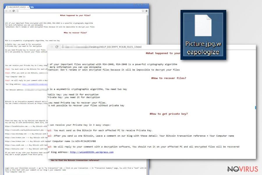 SamSam ransomware virus screenshot