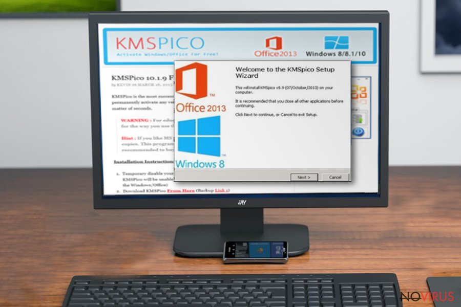 KMSPico virus screenshot