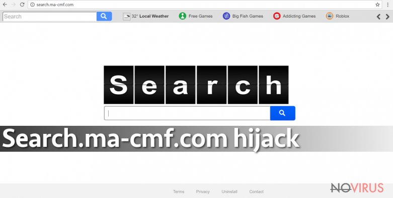 Search.ma-cmf.com virus sets new homepage and default search engine