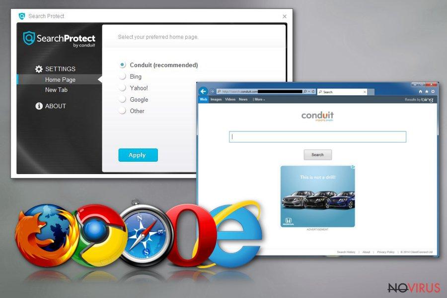 Search Protect virus screenshot