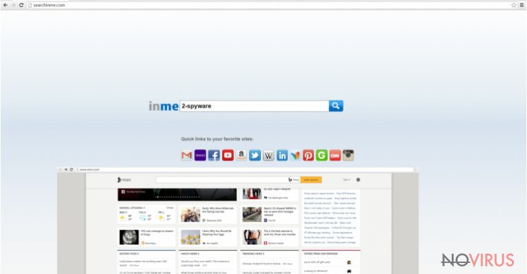 The picture of Searchinme.com search engine