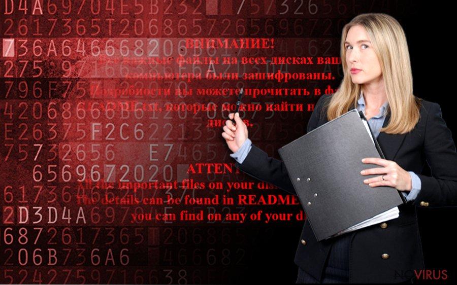 Shade ransomware screenshot