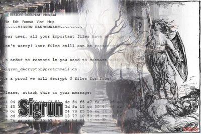 Sigrun ransomware image
