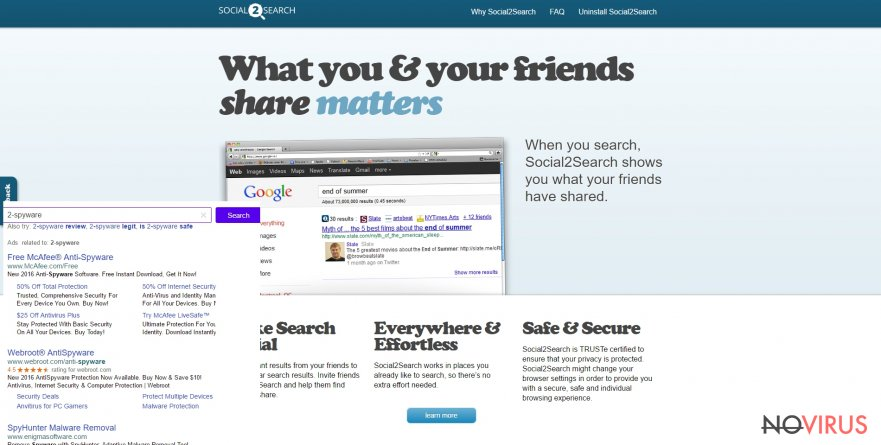 The picture of Social2Search ads