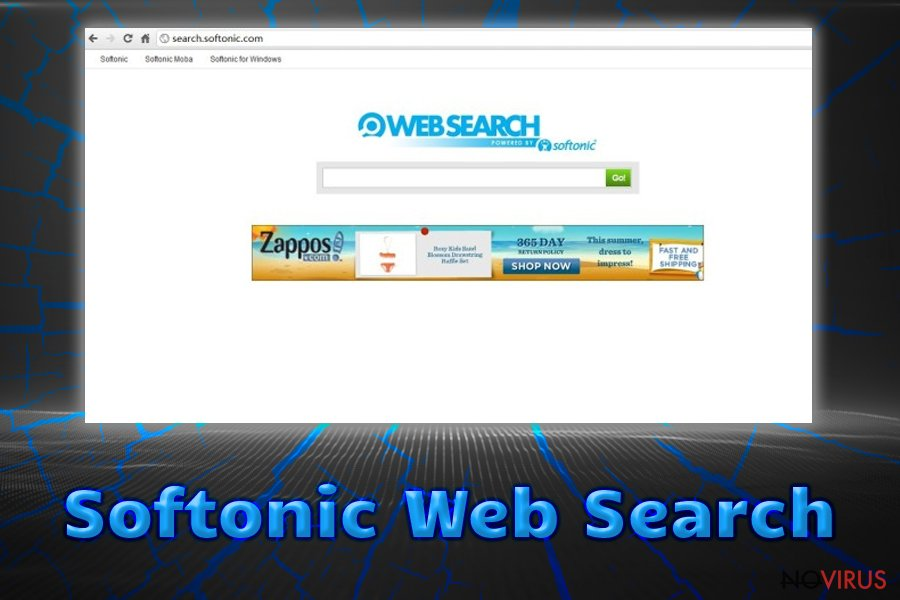 Softonic browser hijacker